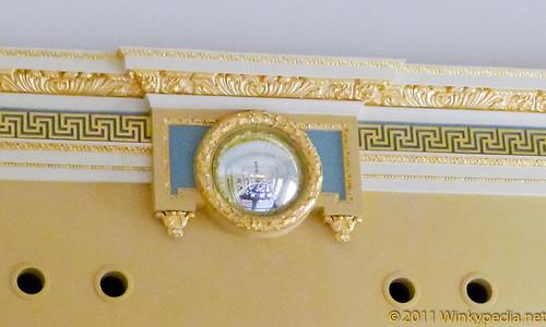 Feng shui mirror at Gilbert Scott by Marcus Wareing at St Pancras Hotel