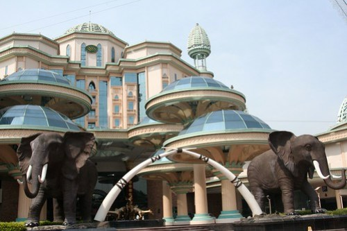 Elephants at the entrance