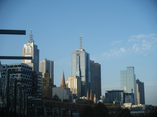 Melbourne CBD and Flinders Street Station