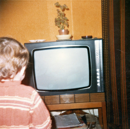 Watching TV by neonbubble, on Flickr