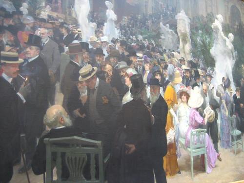 รูป Un vendredi au Salon des Artistes Français หรือแปลว่า A Friday at the Salon of the French Artists เป็นงานซิกเนเจอร์ของ Jules Alexandre Grün (ซึ่งหนูก็เพิ่งรู้จัก รอบนี้ทำให้รู้จักศิลปินเพิ่มขึ้นมากมาย) แล้วมาตั้งอยู่ที่มิวเซียมของฮูอองพอดีเรย