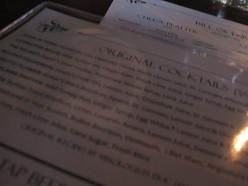 Merchant cocktail list