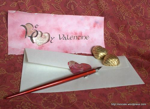 calligraphie saint valentin coeurs 4227
