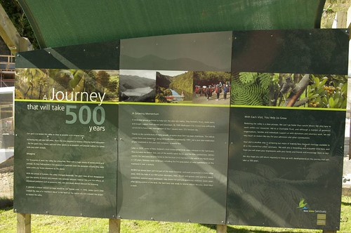 Karori Wildlife Sanctuary sign