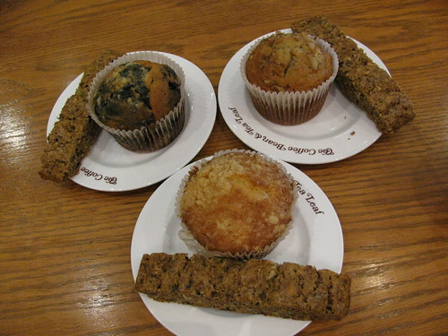 Muffins and Biscotti at Coffee Bean and Tea Leaf