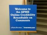 APME Online Credibility Roundtable