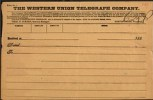 Western Union Telegram - 1880s