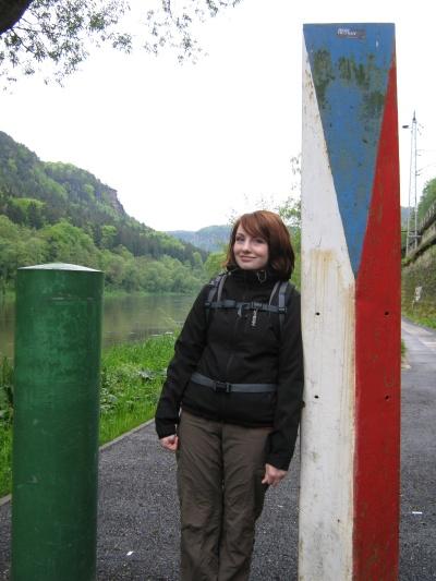 Grenzübergang am Elberadweg
