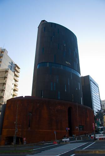 Tokyo building, backlit