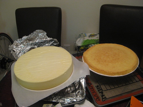 The 12 cheesecake and its biscuit roulade base