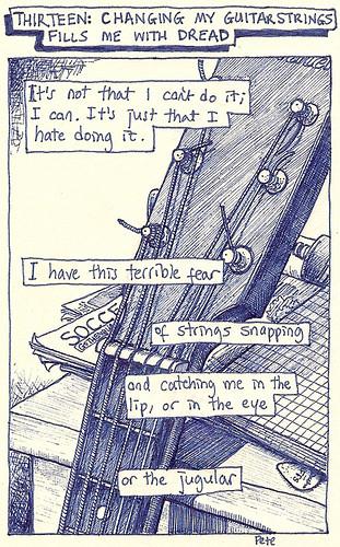 13, guitar string dread