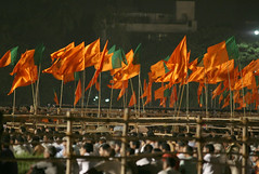 BJP and Shiv Sena flags