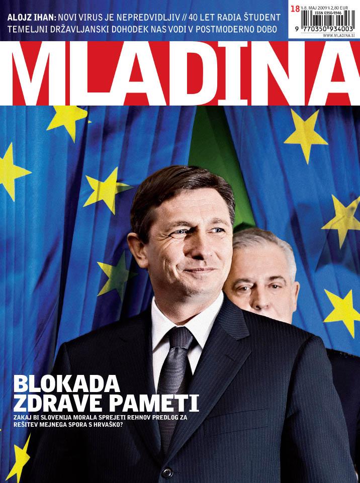 sanader - pahor coverpage of Mladina weekly 18_2009