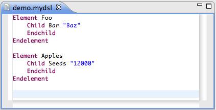 Resource - Demo/demo.mydsl - Eclipse SDK