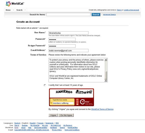 Captcha feedback by Librarian by day