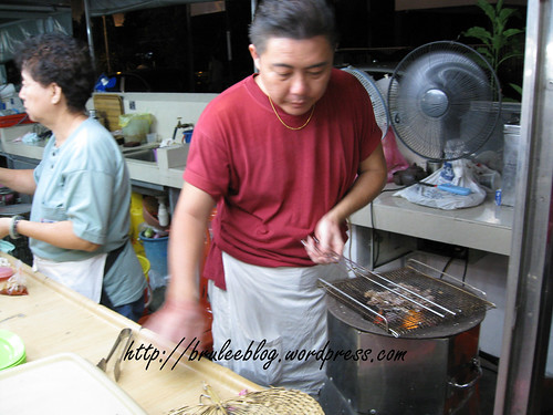 Gurney Drive Hawker Centre - heating up dried squid