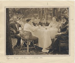 Artists dining outdoors at Mt. Kisco