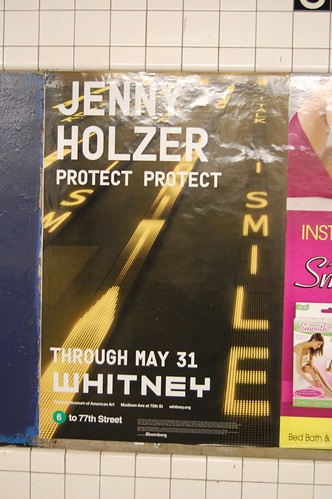 Subway ad for Jenny Holzer exhibit