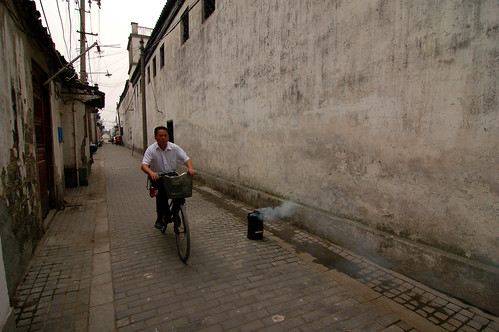 A typical back alley in old town Suzhou.