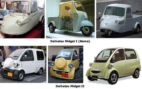 Bemo, Daihatsu Midget II, Midget, Angkutan Umum, Becak Motor