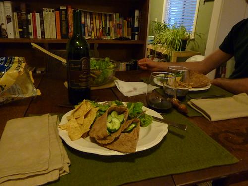 Real Simple Pork & Cucumber Pitas, Southwestern Salad