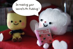 Mr. Cloud is reading puddings diary...
