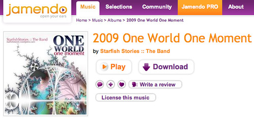Download this album for free: 2009 One World One Moment - Jamendo