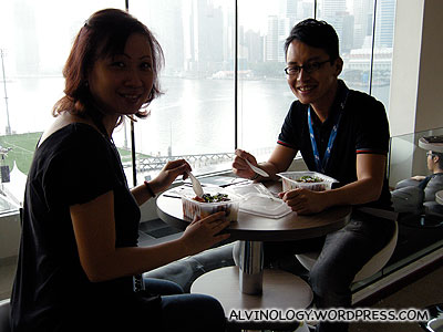 My colleagues, Ann and Francis having their lunch