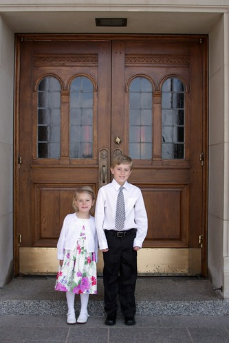 Sebastian & Sophia Outside The Church