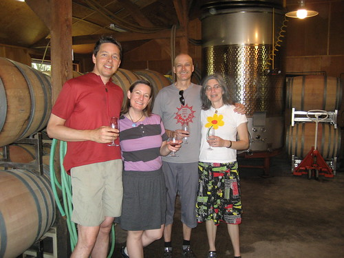 First bike wine tasters at Smith Vineyards!