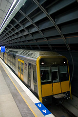 G30 stands at Macquarie University during ECRL Crush Load testing for the Tangara trains. 14/6/09