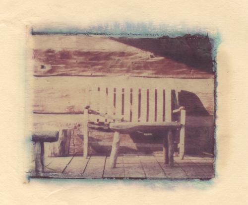 country porch Polaroid Transfer (c) 2003, Lynne Medsker