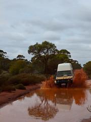 Die Rückfahrt wird nass