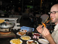 84 - In absolute heaven at the $3 all you can eat, cook it yourself BBQ in Bangkok