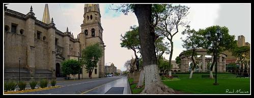 Panoramica Catedral Rotonda Centro Guadalajara Jalisco Mexico