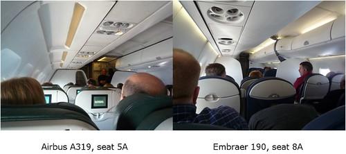 Airbus Cabin vs Embraer Cabin
