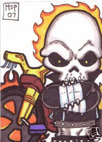 Ghost Rider Sketch Card by you.