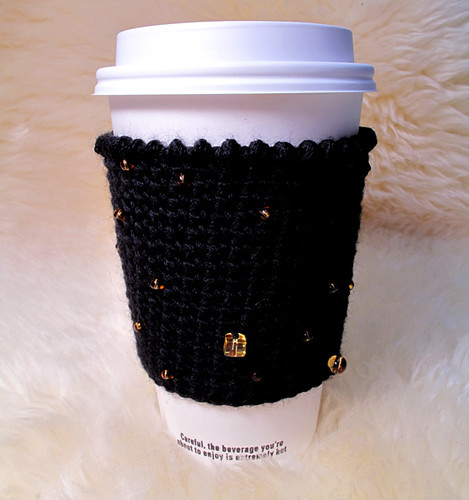 Starry Night Crochet Coffee Cup Cozy