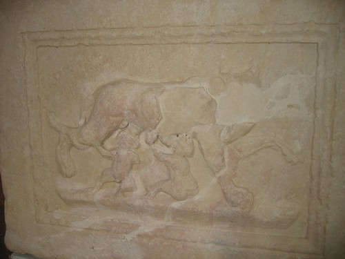 The altar with Romulus and Remus