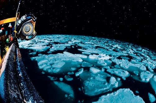 Ice on the Bering sea