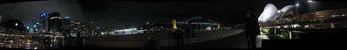 Sydney by night, mega-panorama