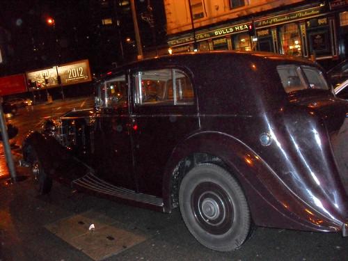 Vintage Rolls in the rain
