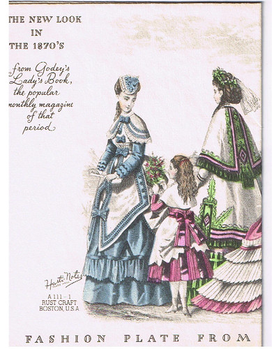 1870 costume: Blue dress