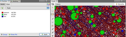 Coloured partitions in Gephi