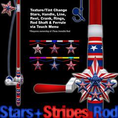 Stars + Stripes Fishing Rod