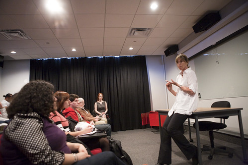 Line Producer Barbara Stoll speaks to EBM students