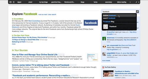 feedly | explore facebook