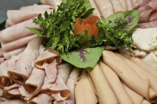Deli platter meat