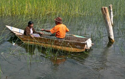 le barche tipiche del lago atitlan