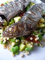 Sardines with Fregola Sarda Salad